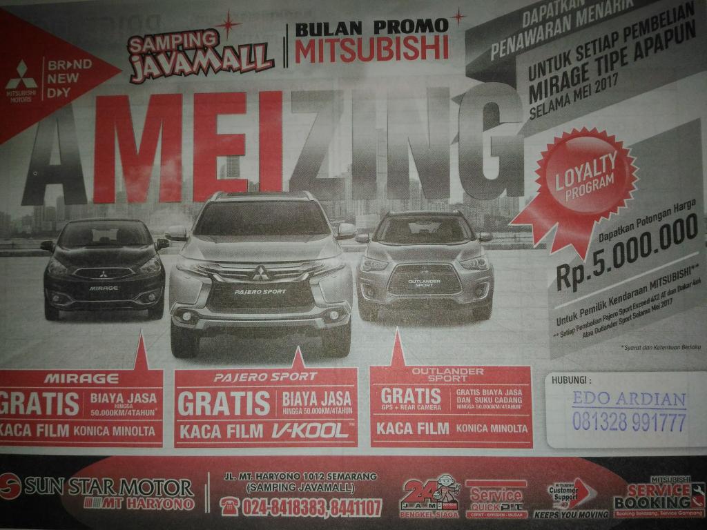 Promo Mobil Mitsubishi Semarang